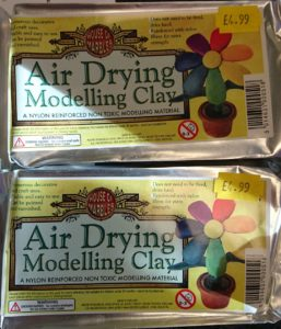 Air drying modelling clay